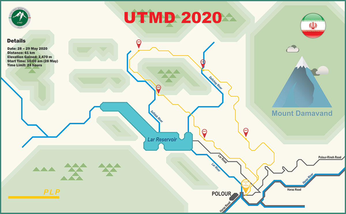 UTMD 2020 Course Map PLP