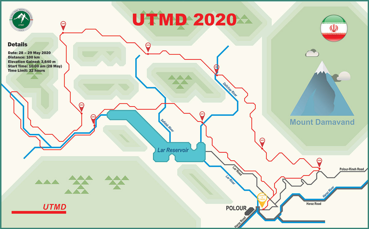 UTMD 2020 Course Map UTMD